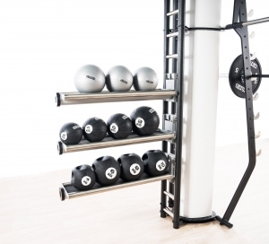 tray storage fitness ball