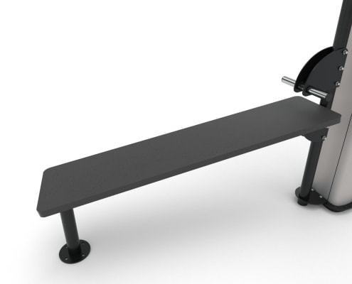 OD17540 FIXED ABDOMINAL BENCH
